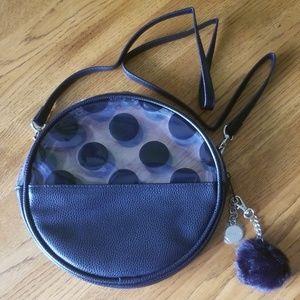 Sephora Black Dot Circle crossbody purse